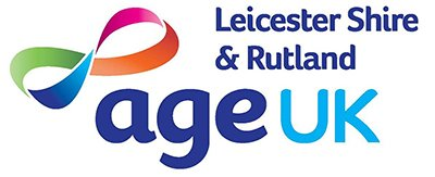 A picture of the Age UK Leicester Shire & Rutland logo.